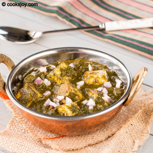 Palak Paneer | Cooks Joy