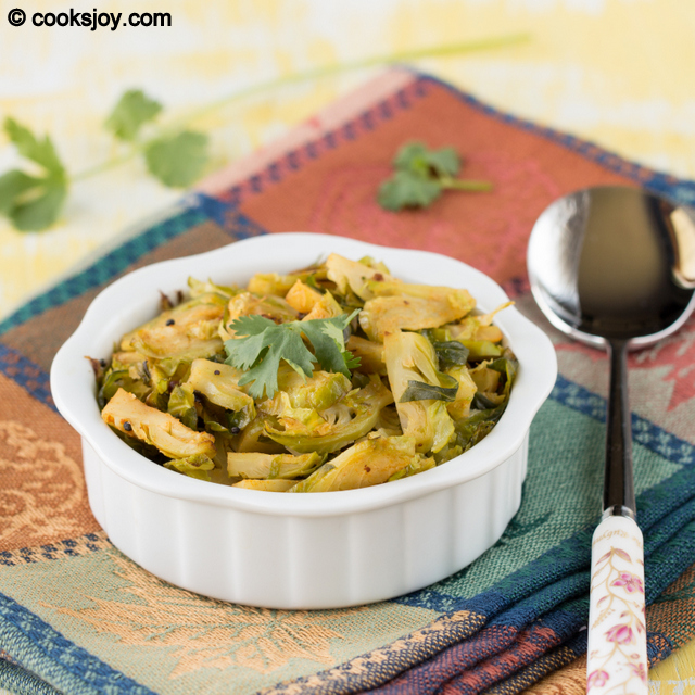 Brussel Sprouts Curry (Poriyal) |Cooks Joy
