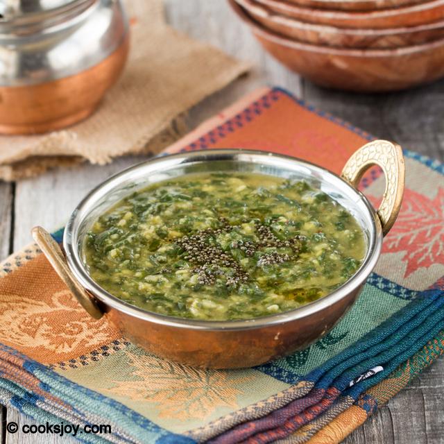 Spinach (Keerai) Kootu | Cooks Joy