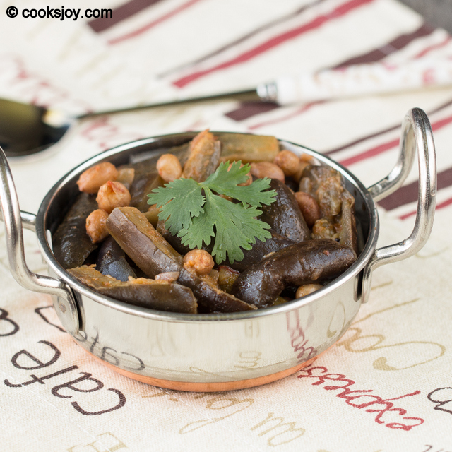 Brinjal Drumstick Peanut Curry