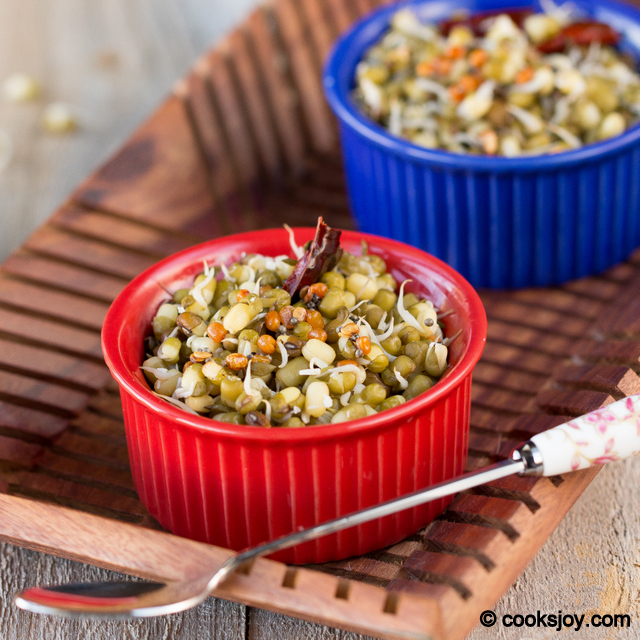 Moong Sprouts Sundal (Salad) | Cooks Joy