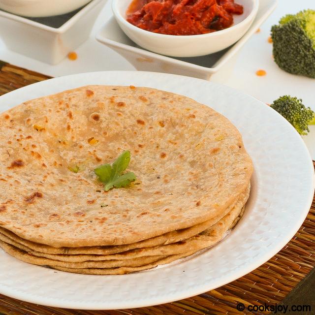 Broccoli Channa Dal Paratha   Cooks Joy