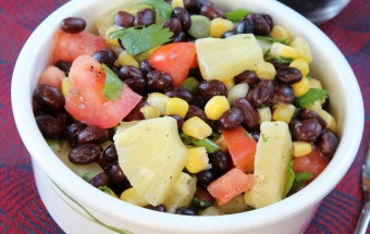 Black Bean Pineapple Salad Featured