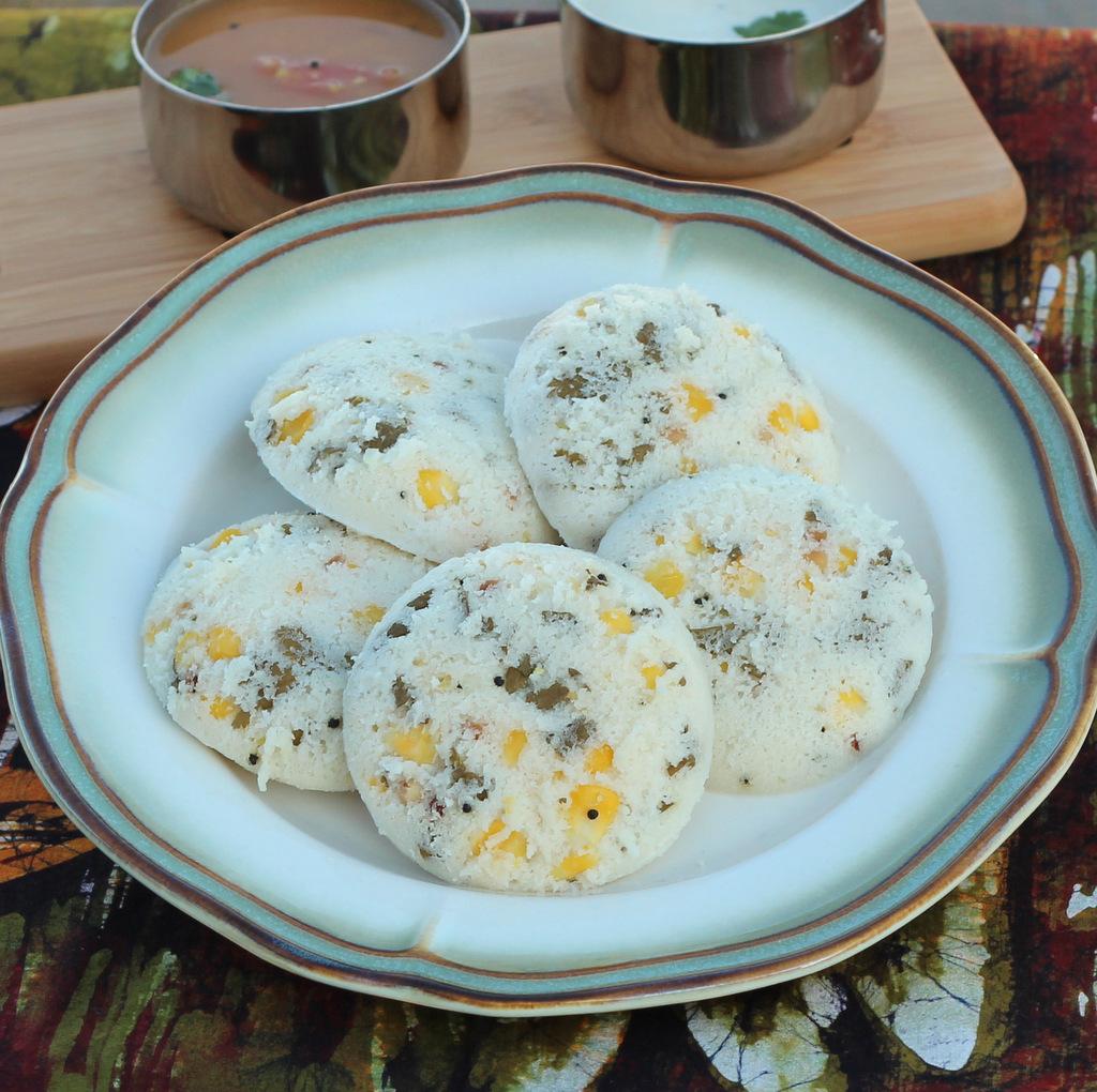 Corn Idli by Zesty Palette @FoodBlogs