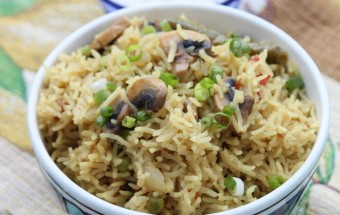 Mushroom Pulao Featured