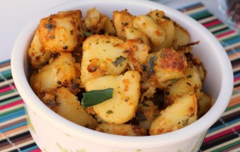 Potato Curry Leaves Fry Featured