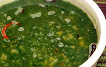 Simple Spinach Dal Featured