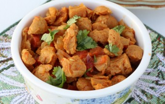 Soy Chunks Tomato Curry Featured