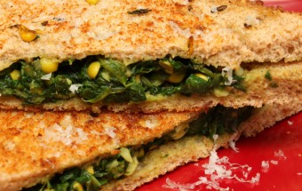 Spinach Corn Sandwich Featured