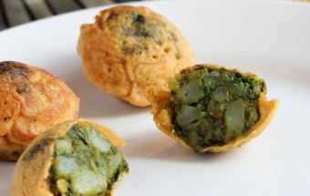 Spinach Potato Bonda Featured