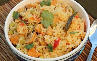 Tomato Soy Chunks Pulao Featured