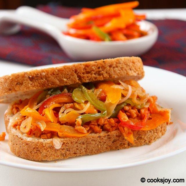 Soya Granules Pepper Sandwich | Cooks Joy