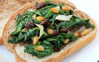 Spinach Pine Nut Salad Featured