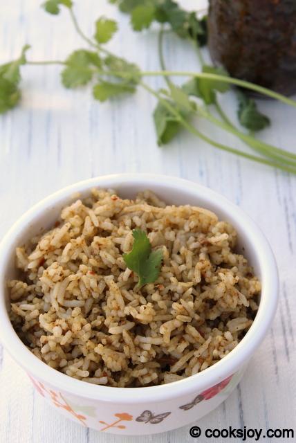 Kothamalli Thokku Rice | Cooks Joy