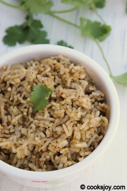 Coriander Thokku Rice | Cooks Joy