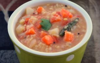 Green Gram Carrot Potato Curry Featured