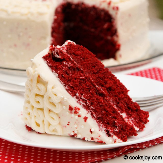 Red Velvet Cake with Cream Cheese Frosting | Cooks Joy