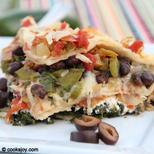 Layered Tortilla Casserole   Cooks Joy