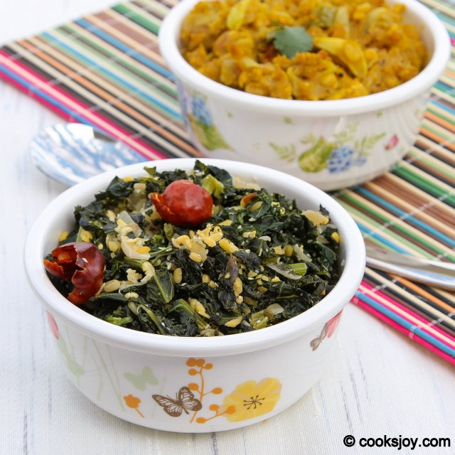 Kale Lentil Poriyal | Cooks Joy