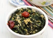 Kale-Lentil Poriyal (Stir Fry)