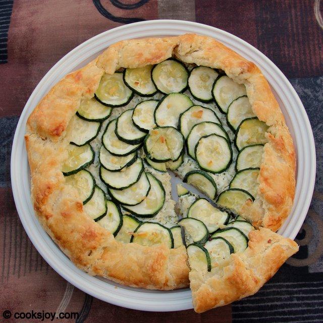 Zucchini-Broccoli-Ricotta Galette