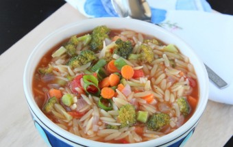 Orzo Vegetable Soup | Cooks Joy