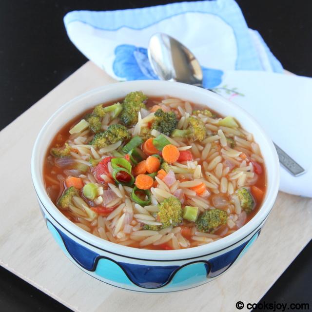 Orzo Vegetable Soup | Cooks Joy