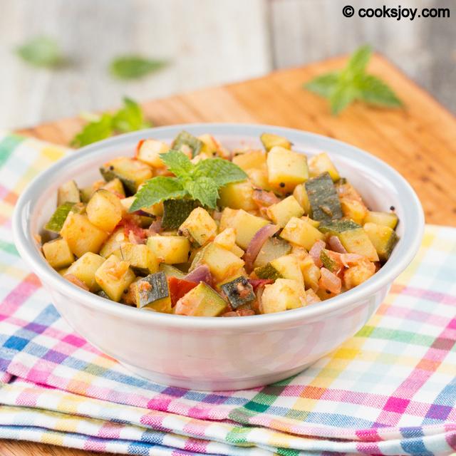 Zucchini Poriyal (Stir Fry) | Cooks Joy