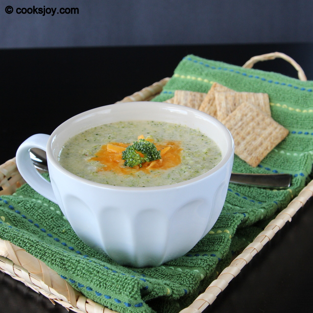 Broccoli Cheese Soup (Low Fat) | Cooks Joy