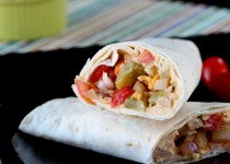 Hummus Wrap with Veggies