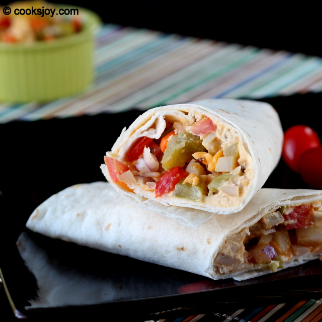 Hummus Wrap with Veggies | Cooks Joy