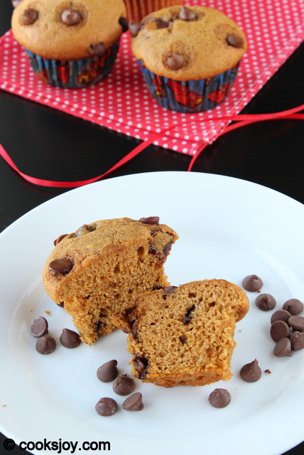 Pumpkin Chocolate Chip Muffins | Cooks Joy