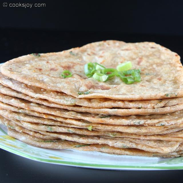 Spring Onion Masala Paratha | Cooks Joy