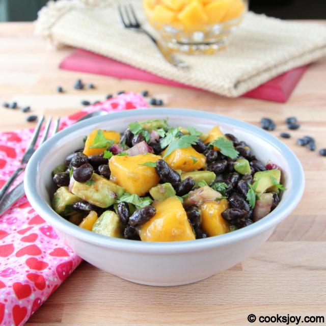 Mango Avocado Black Bean Salad | Cooks Joy