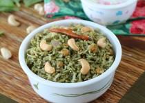 Spinach Masala Rice