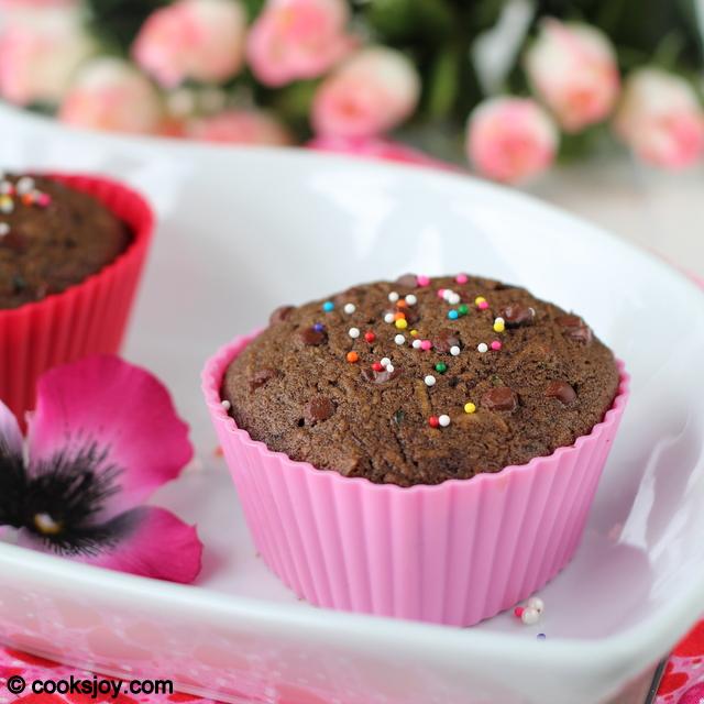 Zucchini Chocolate Cake (Cupcakes) | Cooks Joy