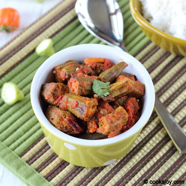 Achari Bhindi (Okra Masala) | Cooks Joy