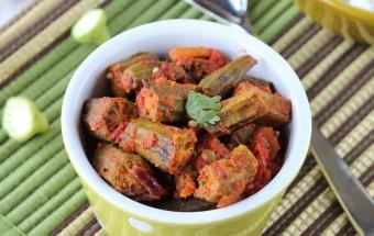 Achari Bhindi (Okra Fry) | Cooks Joy