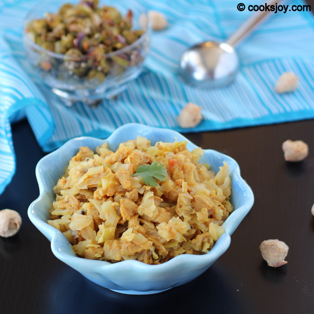 Cabbage Soya Chunks (Meal Maker) Curry | Cooks Joy