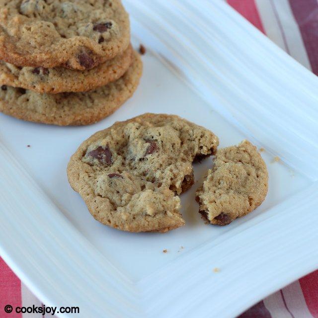 Eggless Chocolate Chip Cookies | Cooks Joy