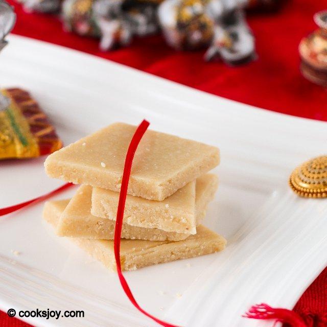 Kaju Katli (Cashew Sweet) | Cooks Joy