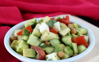 Fresh Mozarella Salad with Cucumbers and Garbanzo| Cooks Joy