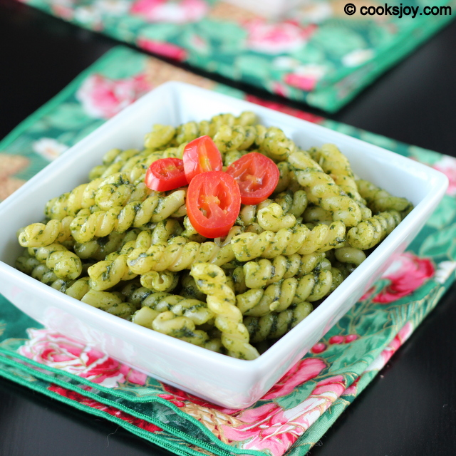 Cilantro Pesto Pasta with Vegetables | Cooks Joy