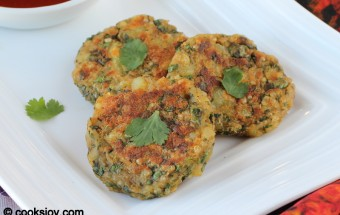 Potato Quinoa Spinach Cutlet | Cooks Joy