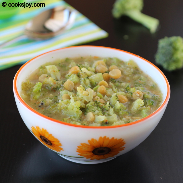 Broccoli Lentil Gravy (Kootu) | Cooks Joy