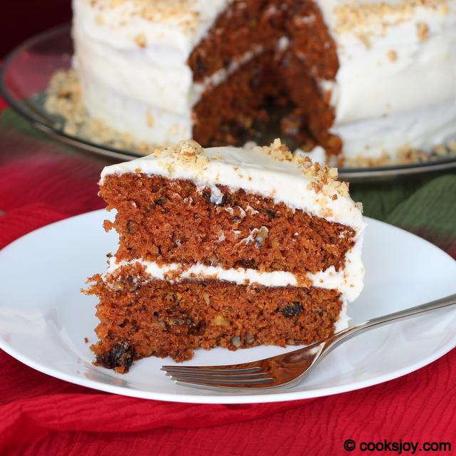 Moist Carrot Cake | Cooks Joy