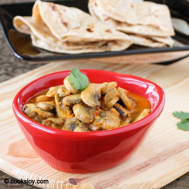 Mushroom Masala | Cooks Joy