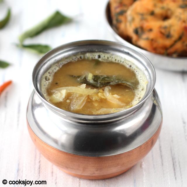 Onion Sambar (Onion-Lentil Gravy) | Cooks Joy