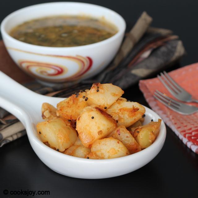 Potato Fry with Onions   Cooks Joy