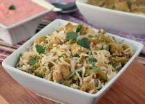 Snow Peas - Soya Chunks Rice